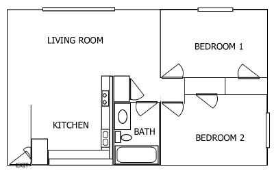 R Plaza 2 Bedroom floorplan 3